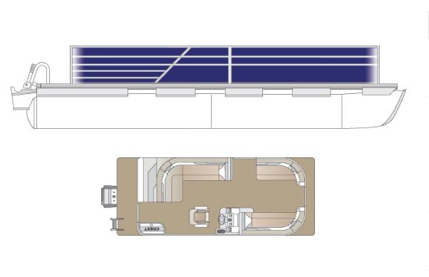 2022 Crest Classic LX 200 L Pontoon Boat