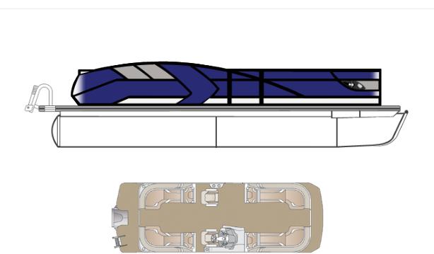 2022 Crest Caribbean LX 230 SLC Pontoon Boat