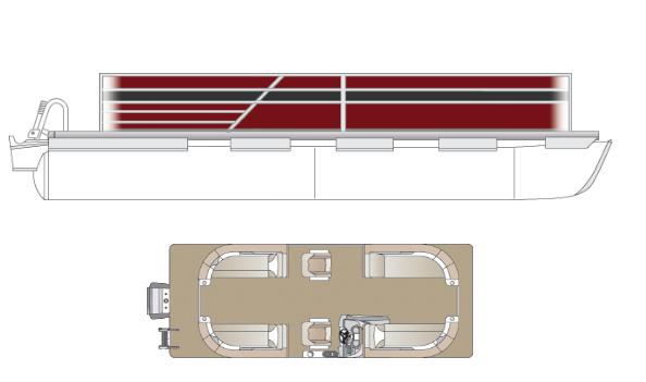 2022 Crest Classic DLX 220 SLC Pontoon Boat
