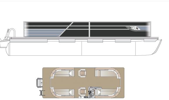 2022 Crest Classic Platinum 220 SLC Pontoon Boat