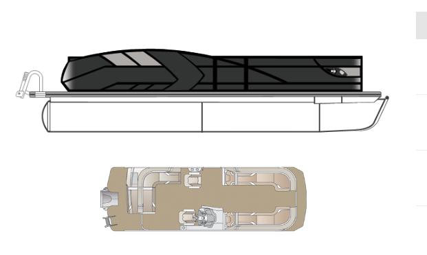 2022 Crest Caribbean LX 250 SLS Pontoon Boat