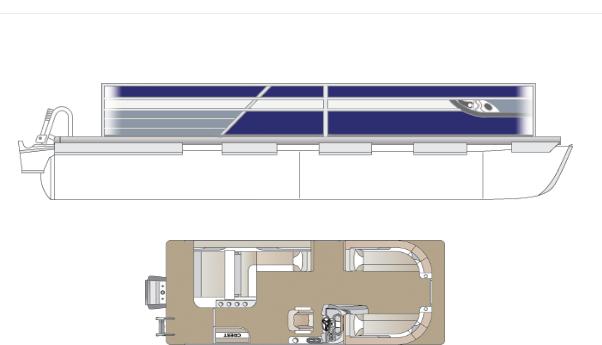 2022 Crest Classic Platinum 220 SLS Pontoon Boat
