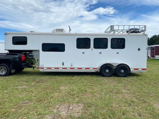 2013 Shadow Trailers 3H 7' LQ w/ Ramp and Hay Rack Horse Trailer
