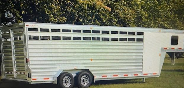 2022 Exiss Trailers STC 7024 Livestock Trailer