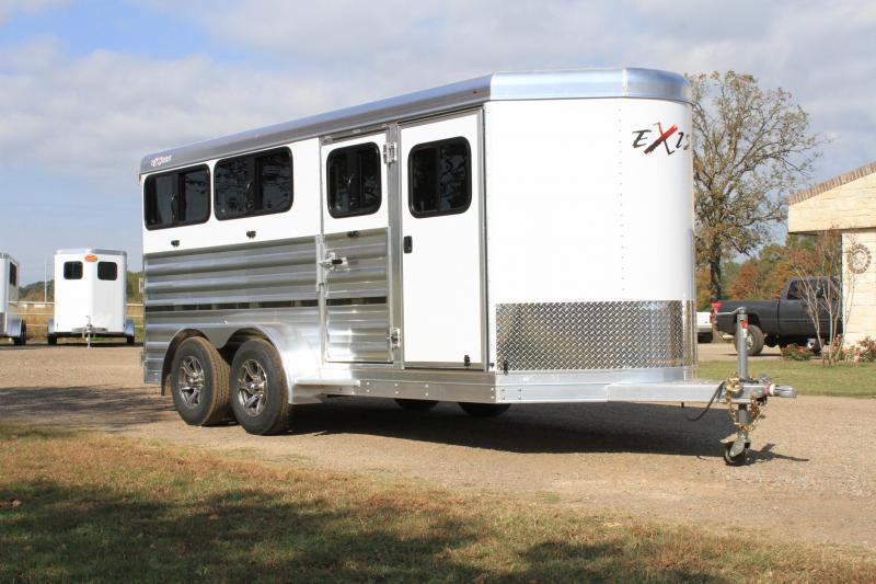 2021 Exiss Trailers 615W Mini Combo Livestock Trailer