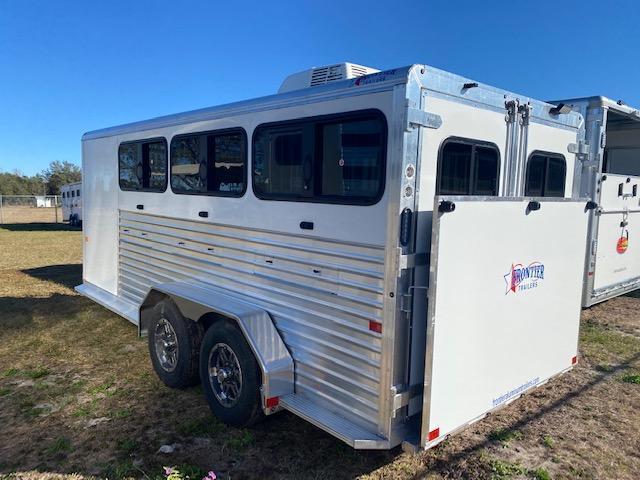 2021 Frontier 7x16 DDFW 6 Pen Low Pro Livestock AC & INSULATED Livestock Trailer