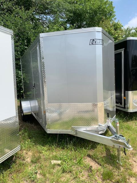 2021 EZ HAULER 6X10 Enclosed Cargo Trailer - SILVER - Ramp Door