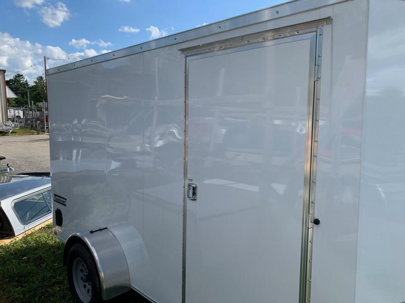 2021 Haulmark Transport 6'x12' Enclosed Trailer White w/Rear Barn Doors