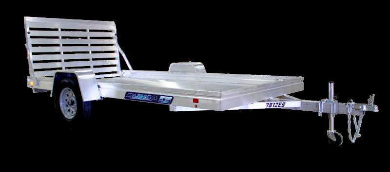 """2022 ALUMA 6'6""""X12' HEAVY DUTY UTILITY TRAILER With Ramp"""