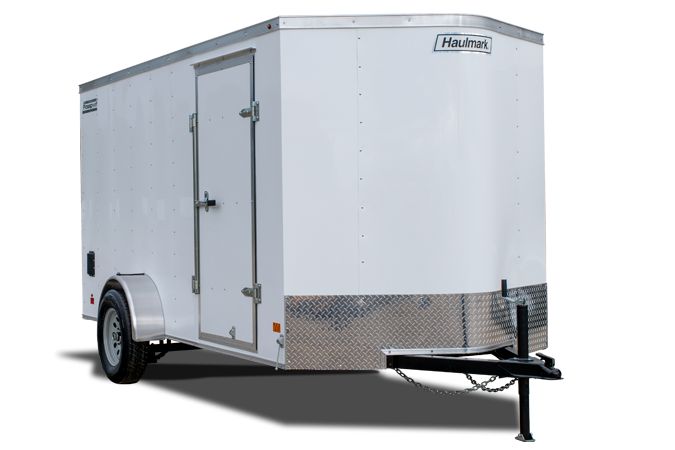 2021 Haulmark Passport 6'X10' Enclosed Cargo Trailer White W/Rear Barn Doors