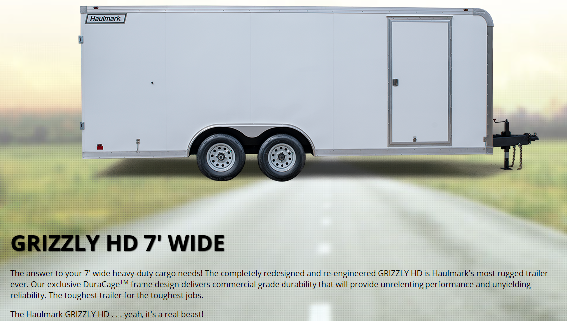 2020 Haulmark 7'X16' GRIZZLY HD Enclosed Cargo Trailer W/Ramp