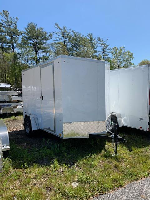 2021 Look Trailers 6X10 Enclosed Cargo Trailer w/ BARN DOORS - White
