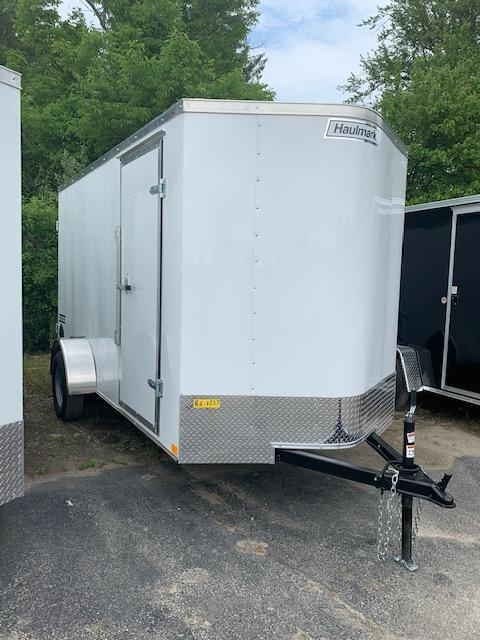 2021 Haulmark PASSPORT 6X12 Enclosed Cargo Trailer w/ Barn Doors - WHITE