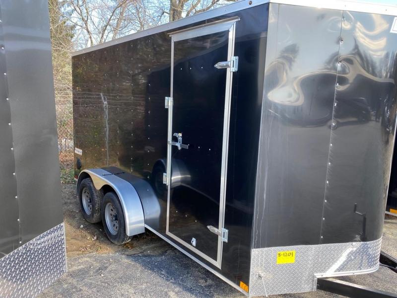2021 Haulmark Passport 7X14 Enclosed Cargo Trailer - w/ RAMP - BLACK