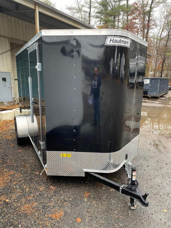 2021 Haulmark Passport 6X12 Enclosed Trailer Black w/ RAMP