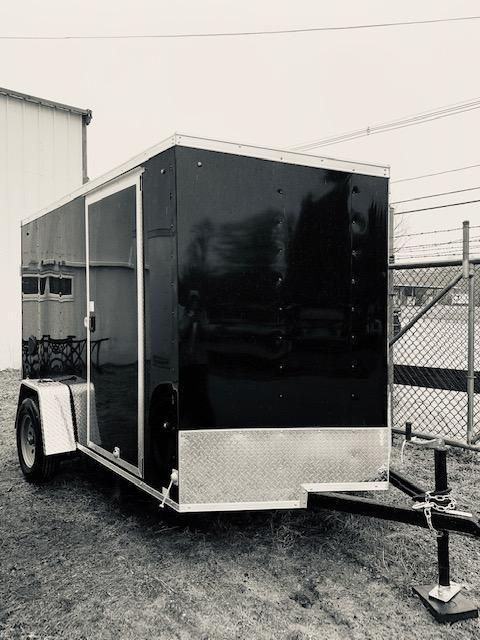 2021 Look Trailers 6X10 Enclosed Cargo Trailer w/ BARN DOORS - Black