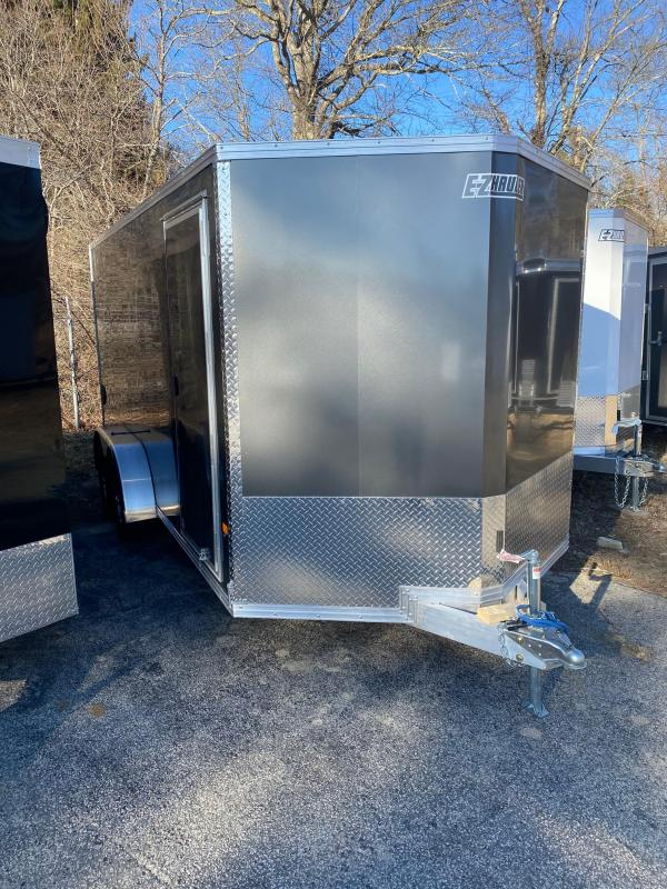 2020 EZ Hauler 7X16 Enclosed Trailer w/ RAMP DOORS - CHARCOAL
