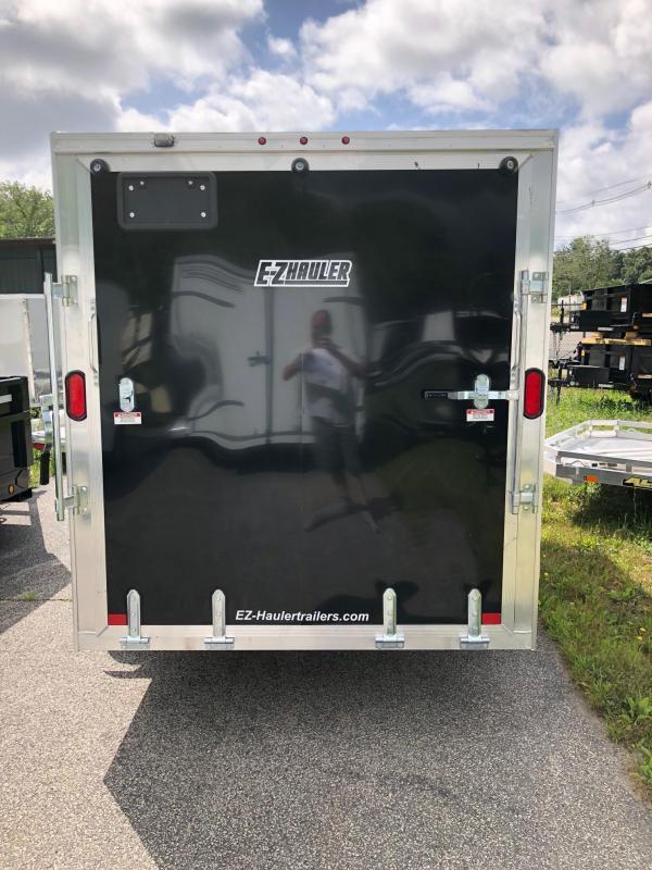 2021 EZ HAULER 6X12 Enclosed Cargo Trailer w/ RAMP - BLACK