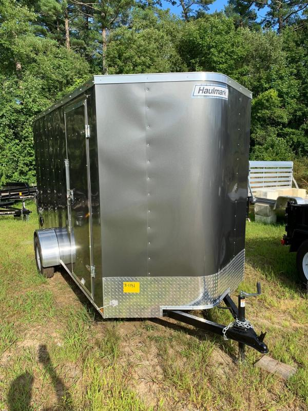 2021 Haulmark Passport 6'X12' Enclosed Trailer w/ RAMP - Charcoal