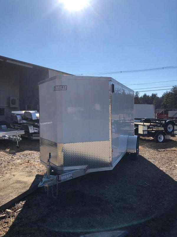 2021 EZ HAULER 6X12 Enclosed Cargo Trailer w/ RAMP - WHITE