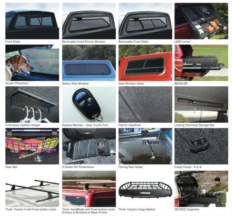Leer Fiberglass Truck Cap Options