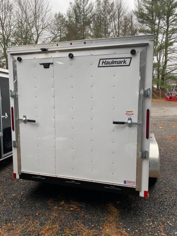 2021 Haulmark Passport 7X14 Enclosed Cargo Trailer - w/ RAMP - WHITE