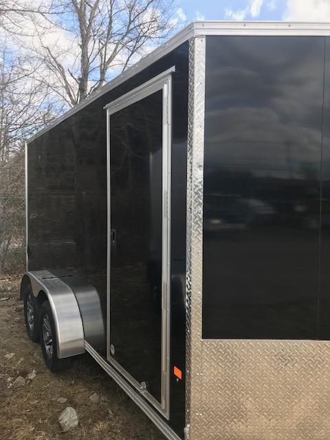 2021 EZ Hauler 7X14 Enclosed Trailer w/ RAMP DOOR - BLACK