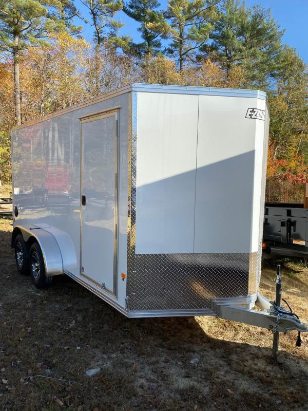 2020 EZ Hauler 7X14 Enclosed Trailer w/ RAMP DOOR - WHITE