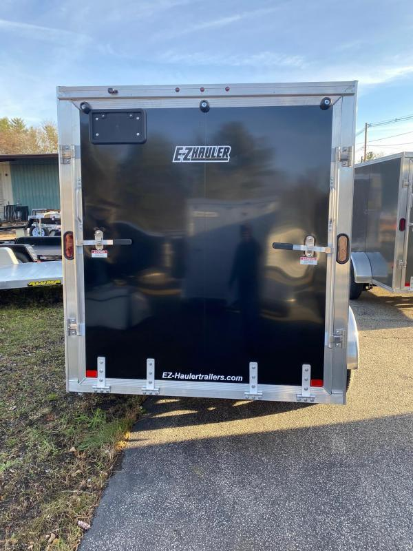 2021 EZ HAULER 6X10 Enclosed Cargo Trailer - BLACK - Ramp Door