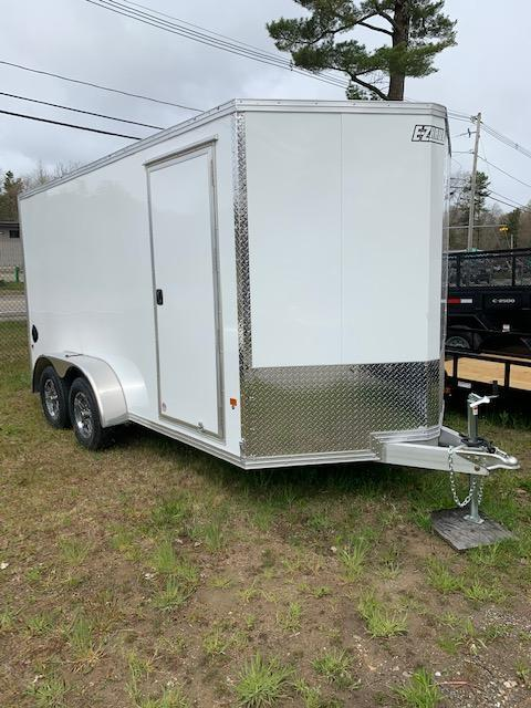 2020 EZ Hauler 7X16 Enclosed Trailer w/ RAMP DOORS - WHITE