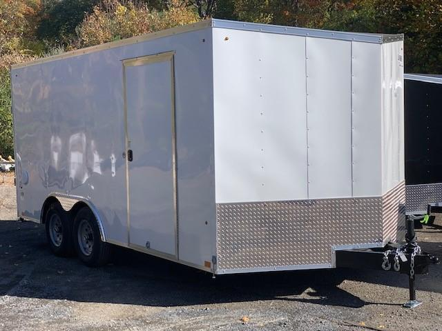 2021 Look Trailers LSAAB 8.5X16 Enclosed Cargo Trailer W/ RAMP - WHITE