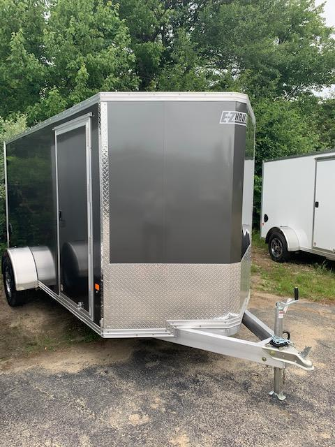 2021 EZ HAULER 6X12 Enclosed Cargo Trailer w/ RAMP - CHARCOAL