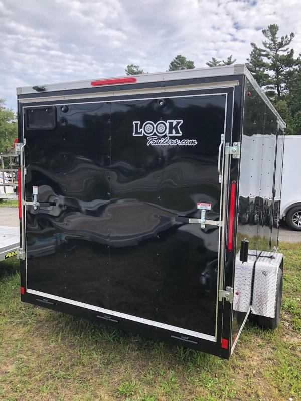 2021 Look Trailers STLC 7X12 Cargo Dlx Cargo / Enclosed Trailer w/ RAMP - BLACK