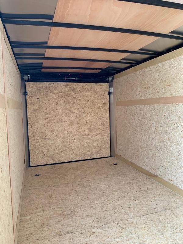 2021 Haulmark Passport 7'x16' Enclosed Cargo Trailer White W/Rear Barn Doors