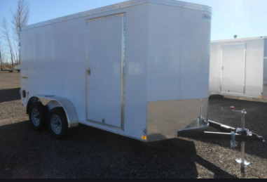 2021 Haulmark Transport V Nose 7'X14' Enclosed Cargo Trailer With Ramp White