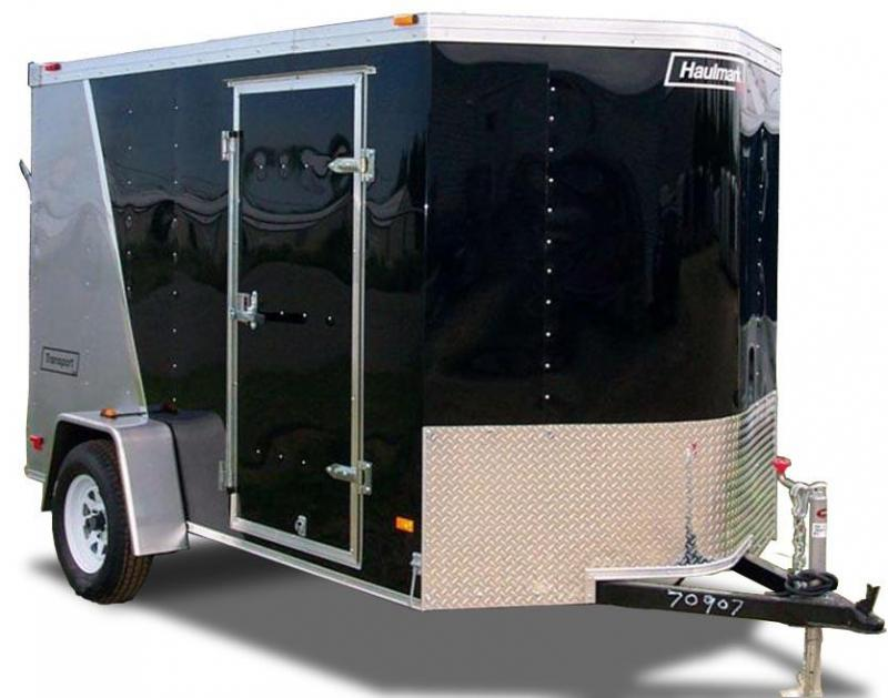 2021 Haulmark Transport 7'X12' Single Axle Enclosed Cargo Trailer 2 Tone Black/Charcoal w/ RAMP