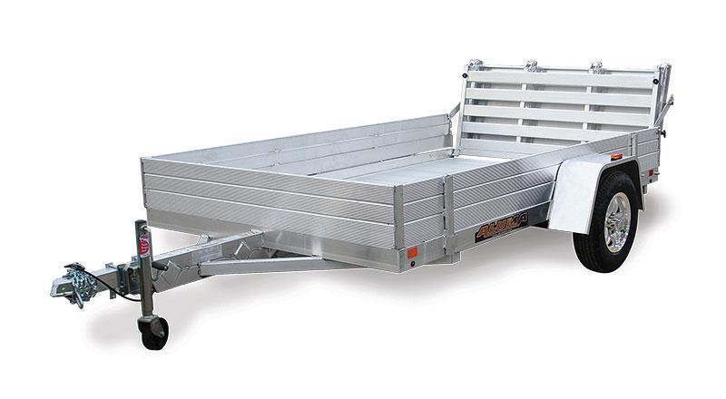 2022 ALUMA 5'8'X10' Heavy Duty Axle Utility Trailer With Bi-Fold Ramp
