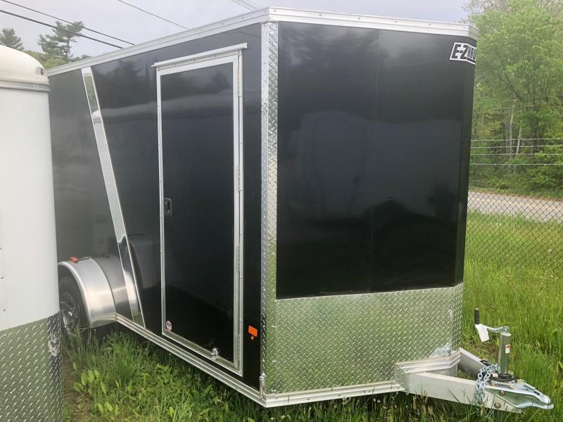 2021 EZ Hauler 7X12 Enclosed Cargo Trailer W/ RAMP - BLACK