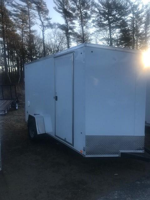 2021 Look Trailers 6X12 Enclosed Cargo Trailer w/ RAMP - WHITE