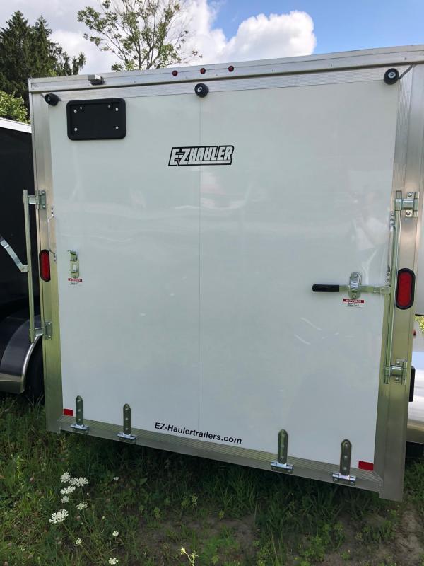 2021 EZ Hauler 7X14 Enclosed Trailer w/ RAMP - WHITE