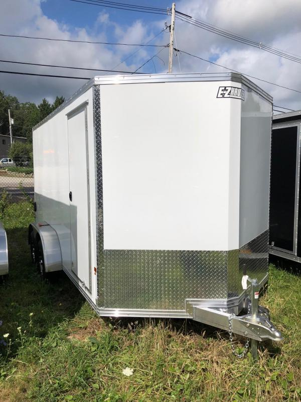 2021 EZ Hauler 7X14 Enclosed Trailer w/ RAMP - WHITE