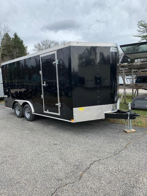 2021 Haulmark Passport 8.5'x16' Enclosed Cargo Trailer Black w/Ramp
