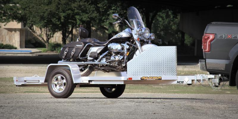 2022 ALUMA SINGLE PLACE MOTORCYCLE TRAILER - ON ORDER/DUE MAY-JUNE