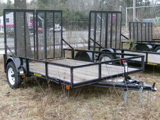 2021 PEQUEA 6'X10' With Split Ramps UTILITY TRAILER