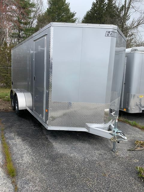 2020 EZ Hauler 7X14 Enclosed Trailer w/ RAMP DOOR - SILVER