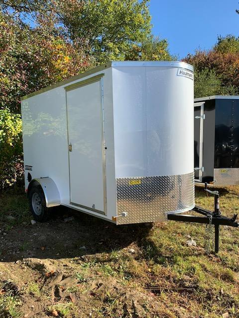 2021 Haulmark Transport 6'X10' Enclosed Cargo Trailer White w/ RAMP