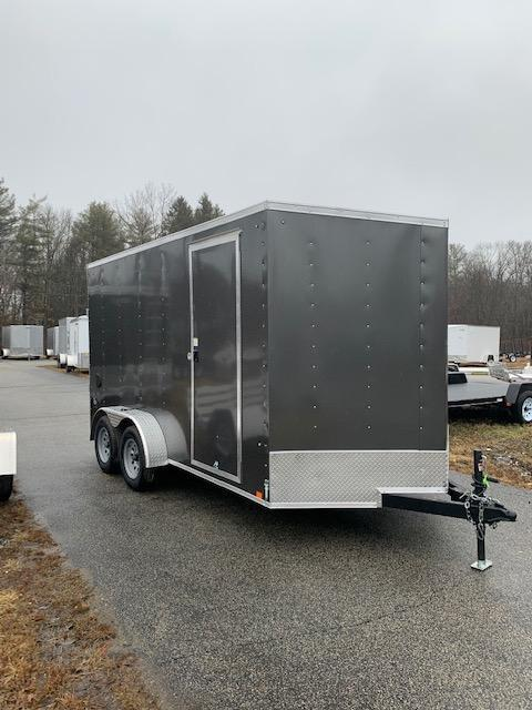 2021 Look 7X14 Cargo Deluxe Cargo / Enclosed Trailer w/ RAMP - Charcoal
