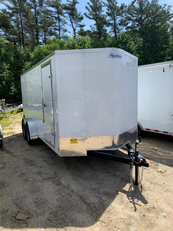 2021 Haulmark Passport 7'x16' Enclosed Cargo Trailer White W/Ramp