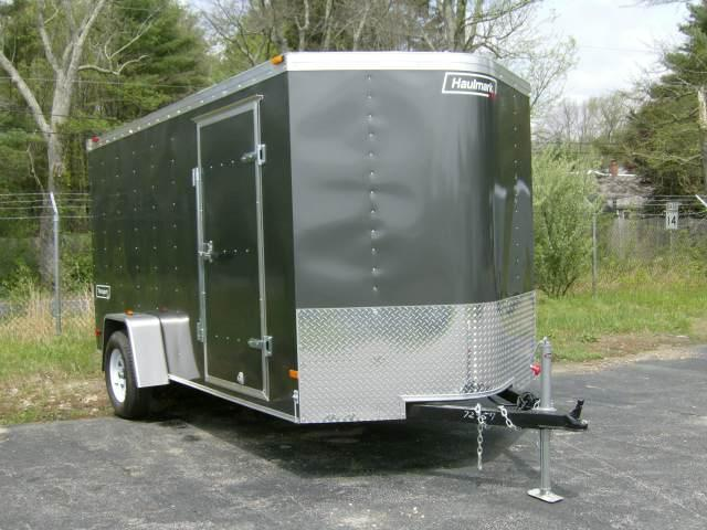 2021 Haulmark 6'X12' Enclosed Cargo Trailer Silver w/ RAMP