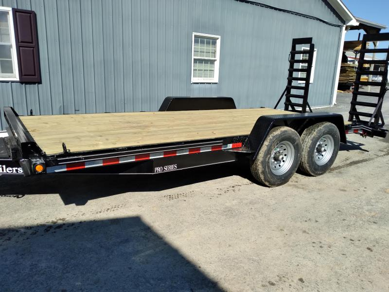 "Quality Trailers Pro Grade Equipment 18' 15K -5' Swing Up Ramps -6"" Channel Frame -6"" Tongue -Adjustable Coupler -12K Drop Leg Jack -Tool Tray With Lockable Lid -2' Dovetail -LED Lights -16"" 10 Ply Nitrogen Filled Radial Tires"